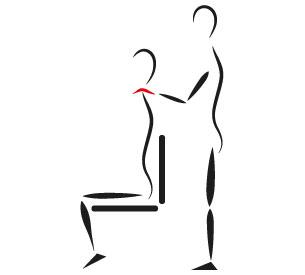 Kinésithérapeute soignant un patient