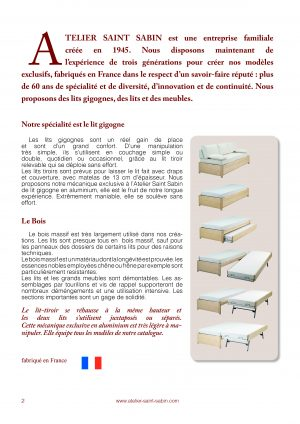Catalogue pour l'atelier saint sabin