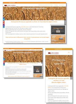 Site réalisé pour une ETA agricole