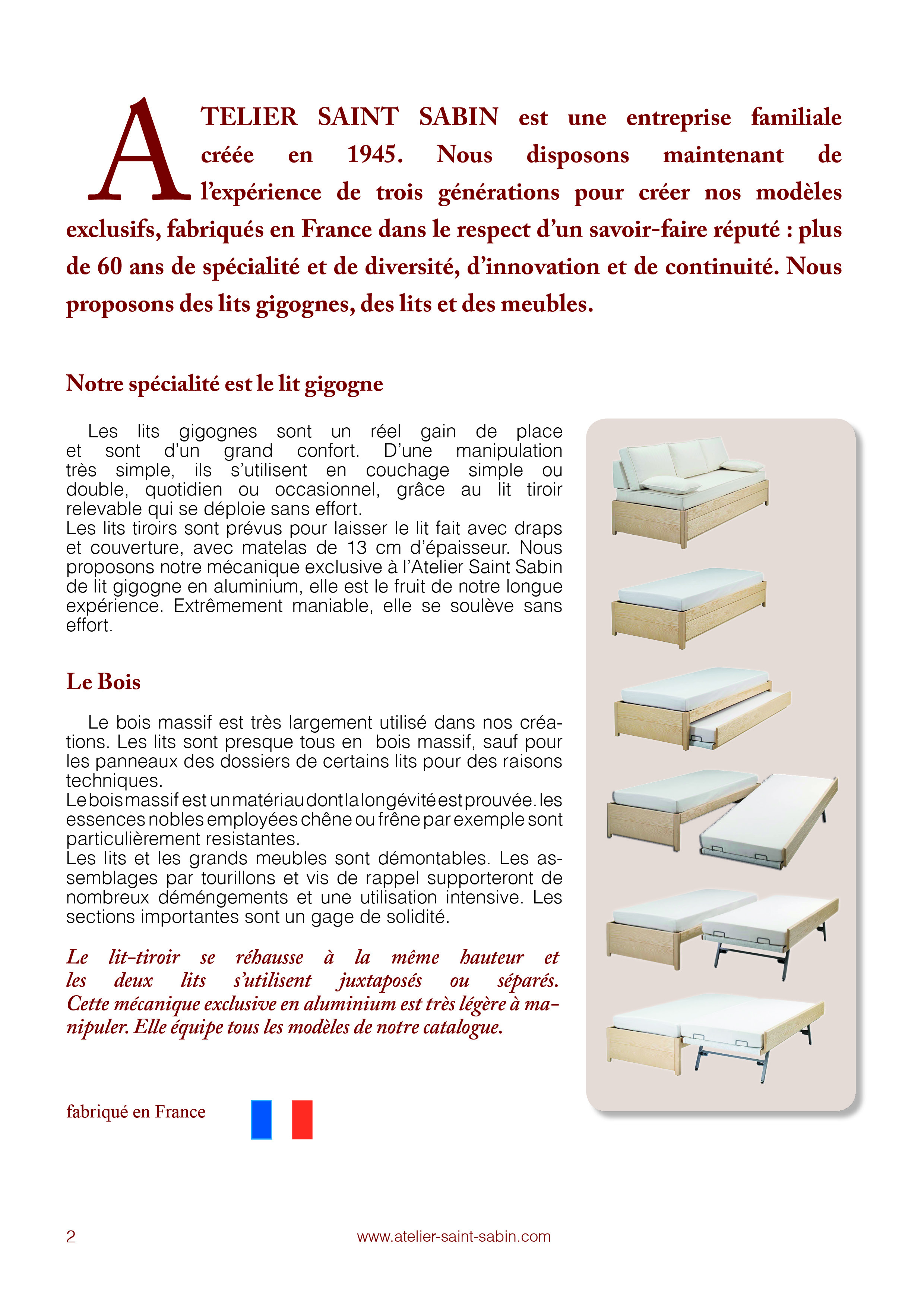 Catelogue pour un magasin de literie