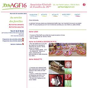 Site pour une association (AGF16)