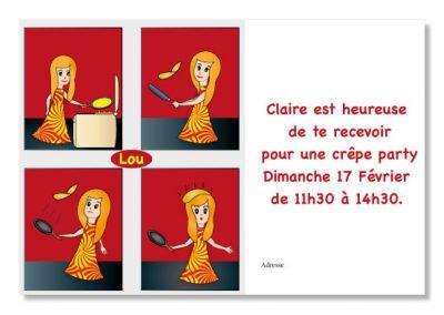Invitation crêpes party