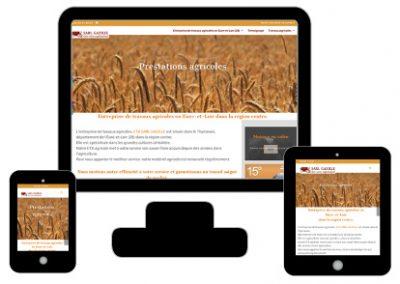 Logo et site pour une ETA agricole